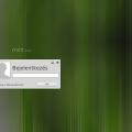 MATE - A bejelentkező képernyő