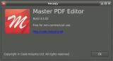 Master PDF Editor névjegye
